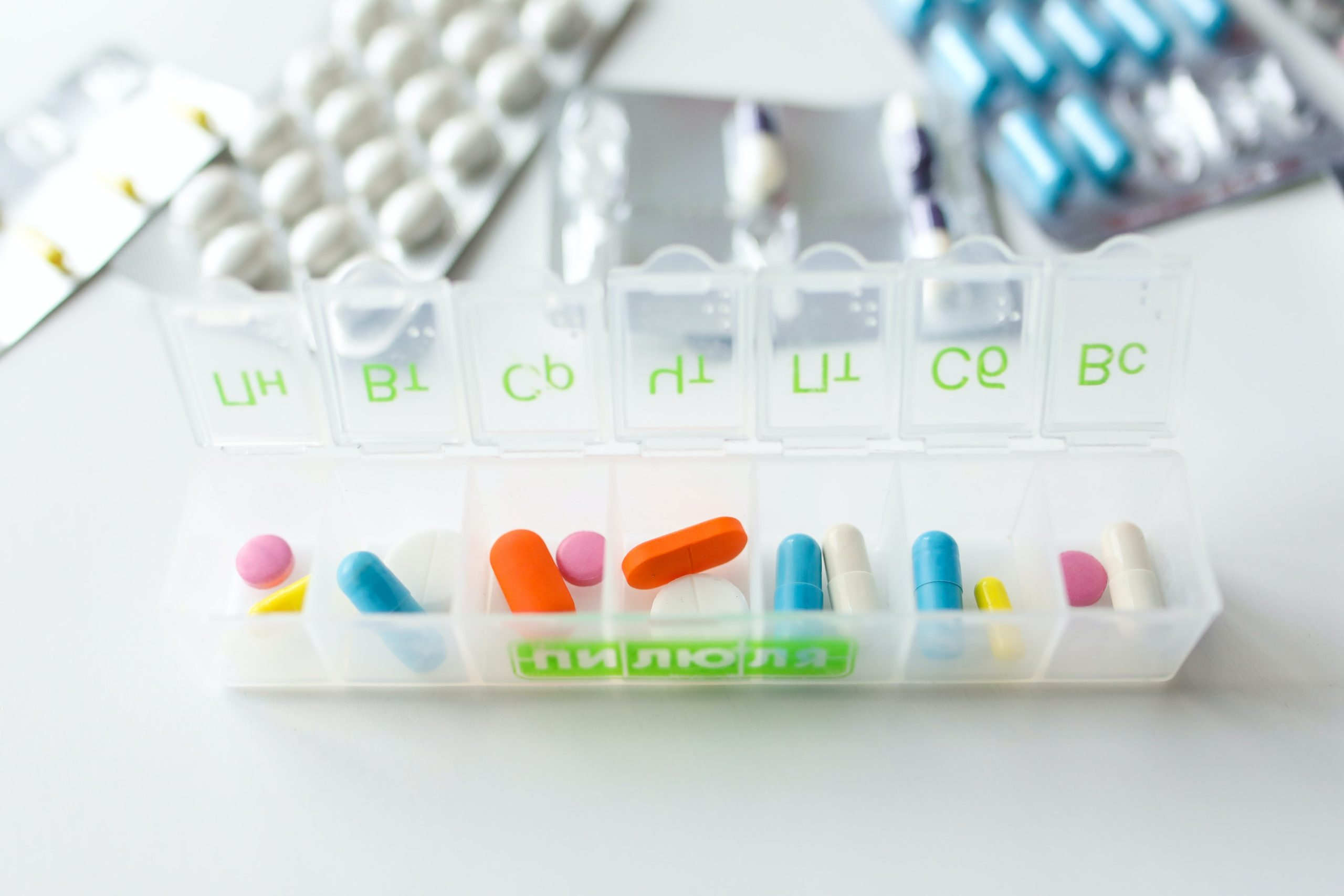 pills in a container